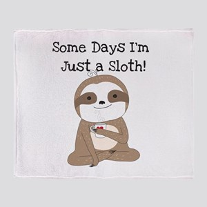 Cute Just A Sloth Throw Blanket